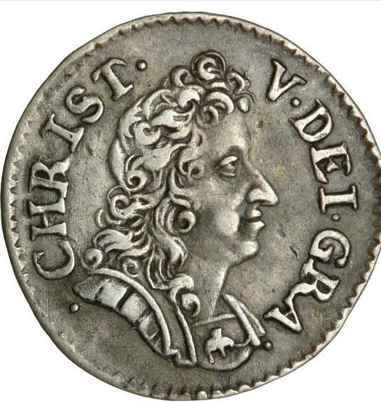 Christian V, 2 skilling 1693, H 111, S 75