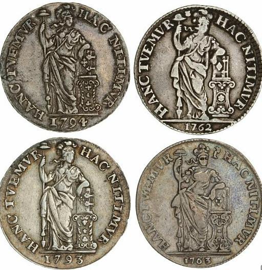 Netherlands, Holland, Gulden 1793, 1794, KM 73