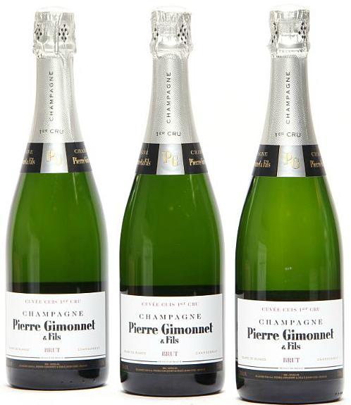 """12 bts. Champagne 1. Cru Blanc de Blancs """"Cuvée Cuis"""", Pierre Gimonnet & Fils A (hf/in). Oc."""