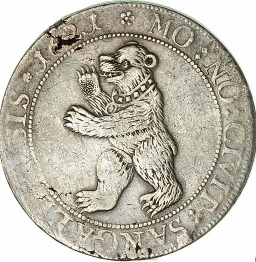 Switzerland, Saint Gall, thaler 1621, KM 61, Dav. 4677