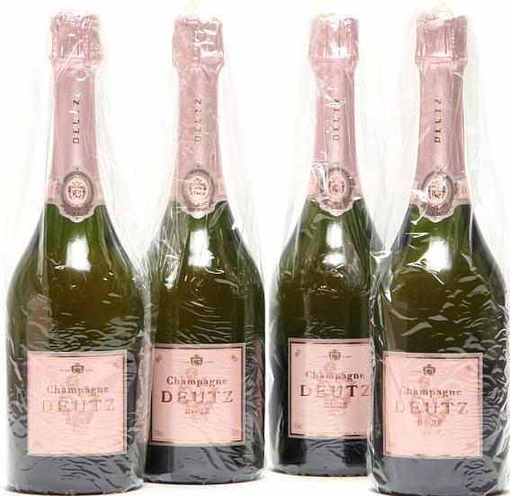 12 bts. Champagne Brut Rosé, Deutz A (hf/in). Oc.