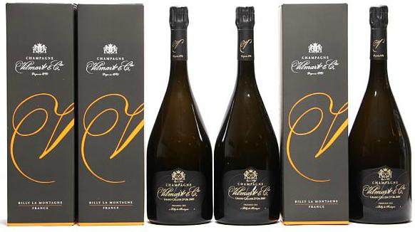 "3 bts. Mg. Champagne Brut ""Grand Cellier d'Or"" 1. Cru, Vilmart & Cie 2009 A (hf/in). Oc."