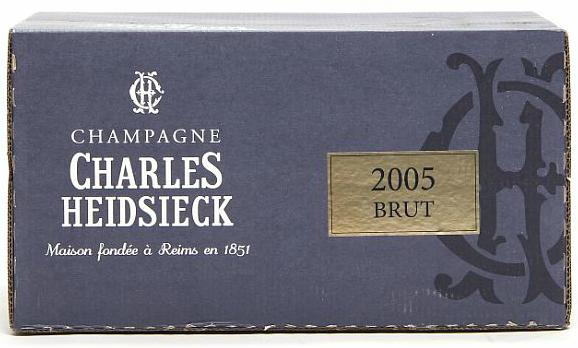 "6 bts. Champagne Brut ""Millesime"", Charles Heidsieck 2005 A (hf/in). Oc"
