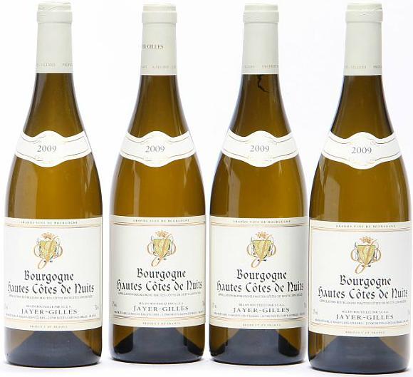 12 bts. Hautes Côtes de Nuits Blanc, Domaine Gilles Jayer 2009 A (hf/in). Oc