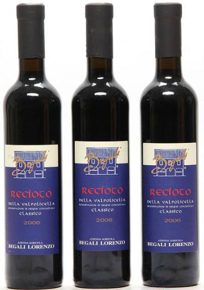 6 bts. 0,5 l. Recioto della Valpolicella Classico, Begali Lorenzo 2006 A (hf/in). Oc.
