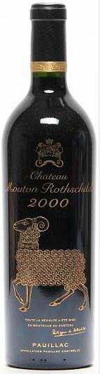 1 bt. Château Mouton Rothschild, Pauillac. 1. Cru Classé 2000 A (hf/in)