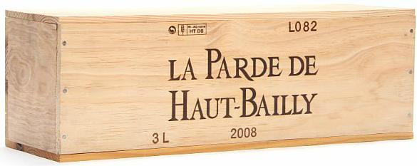 1 bt. Dmg. La Parde de Haut-Bailly, Pessac-Leognan 2008 A (hf/in). Owc