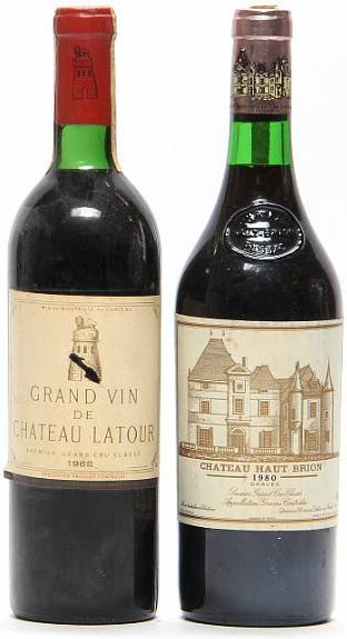 1 bt. Château Latour, Pauillac. 1. Cru Classé 1968 (Chateau bottled). B (ts/us). etc. Total 2 bts