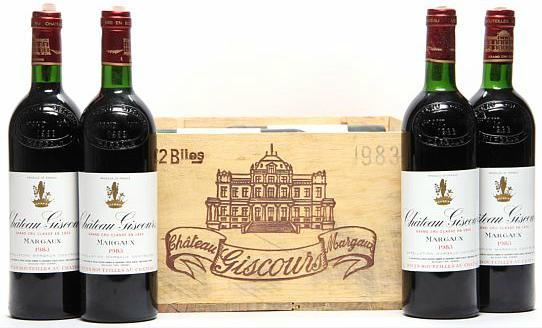 12 bts. Château Giscours, Labarde - Margaux. 3. Cru Classé 1983 A-A/B (bn). Owc