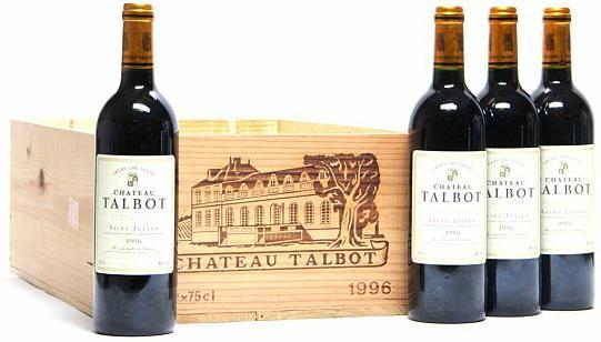 4 bts. Château Talbot, Saint - Julien. 4. Cru Classé 1996 A (hf/in). Owc