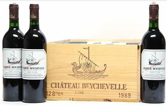 12 bts. Château Beychevelle, Saint - Julien. 4. Cru Classé 1989 A (hf/in). Owc
