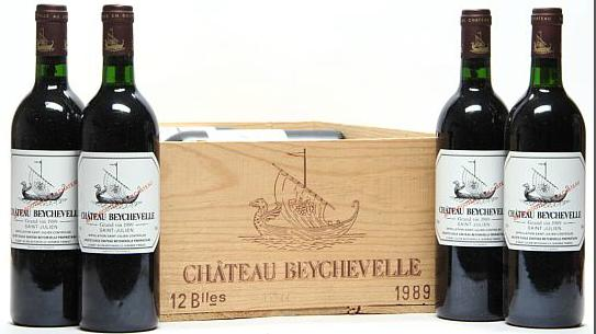 12 bts. Château Beychevelle, Saint - Julien. 4. Cru Classé 1989 A-A/B (bn). Owc
