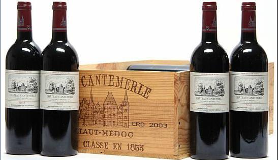 12 bts. Château Cantemerle, Haut Medoc. 5. Cru Classé 2003 A (hf/in). Owc