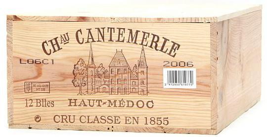 12 bts. Château Cantemerle, Haut Medoc. 5. Cru Classé 2006 A (hf/in). Owc.