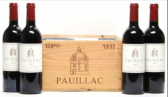 12 bts. Pauillac de Château Latour, Chateau Latour, Pauillac 1993 A (hf/in). Owc