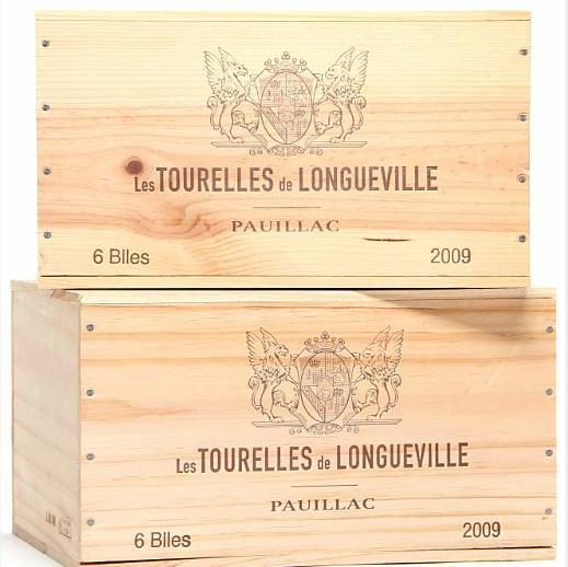 12 bts. Les Tourelles de Longueville, 2wine Ch. Pichon-Longueville Baron 2009 A (hf/in). Owc