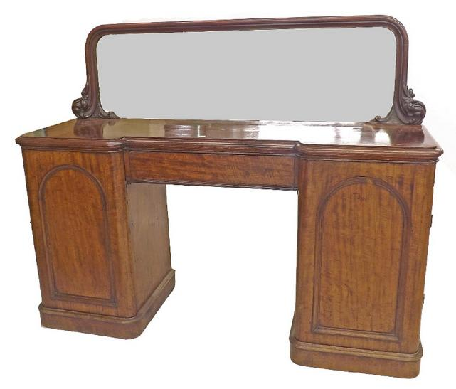 Good Victorian mahogany twin pedestal sideboard