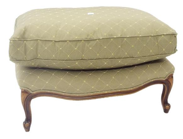 Good quality French style serpentine footstool with cushion