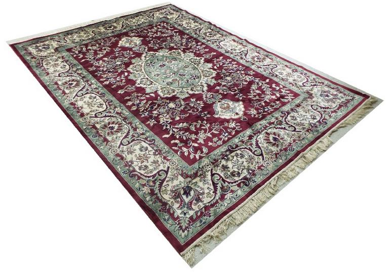 Keshan rug with red ground
