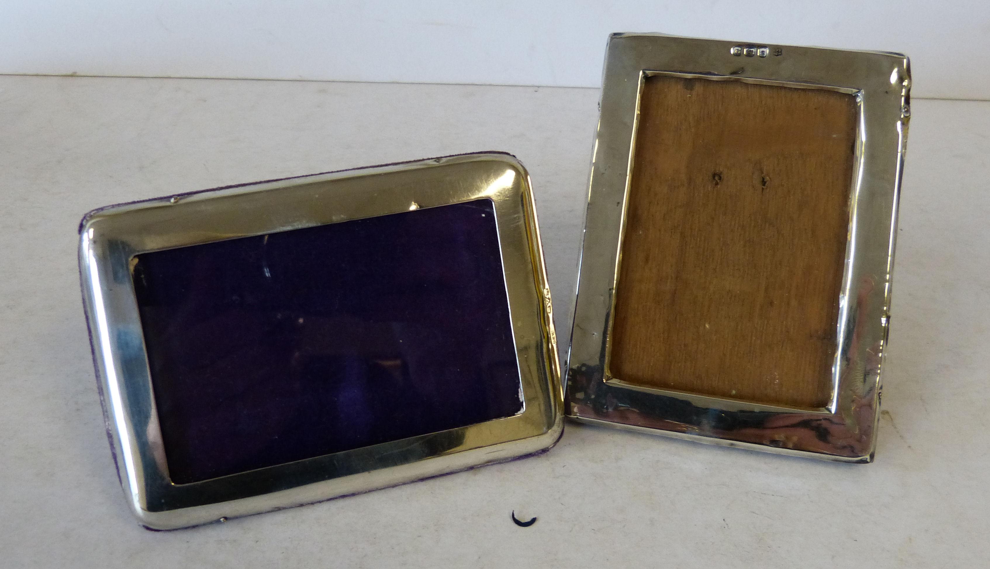 A Pain Chester Silver Rectangular Shaped Freestanding Photograph Frame