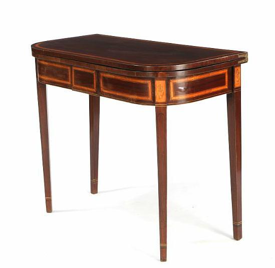 A Danish empire mahogany card table