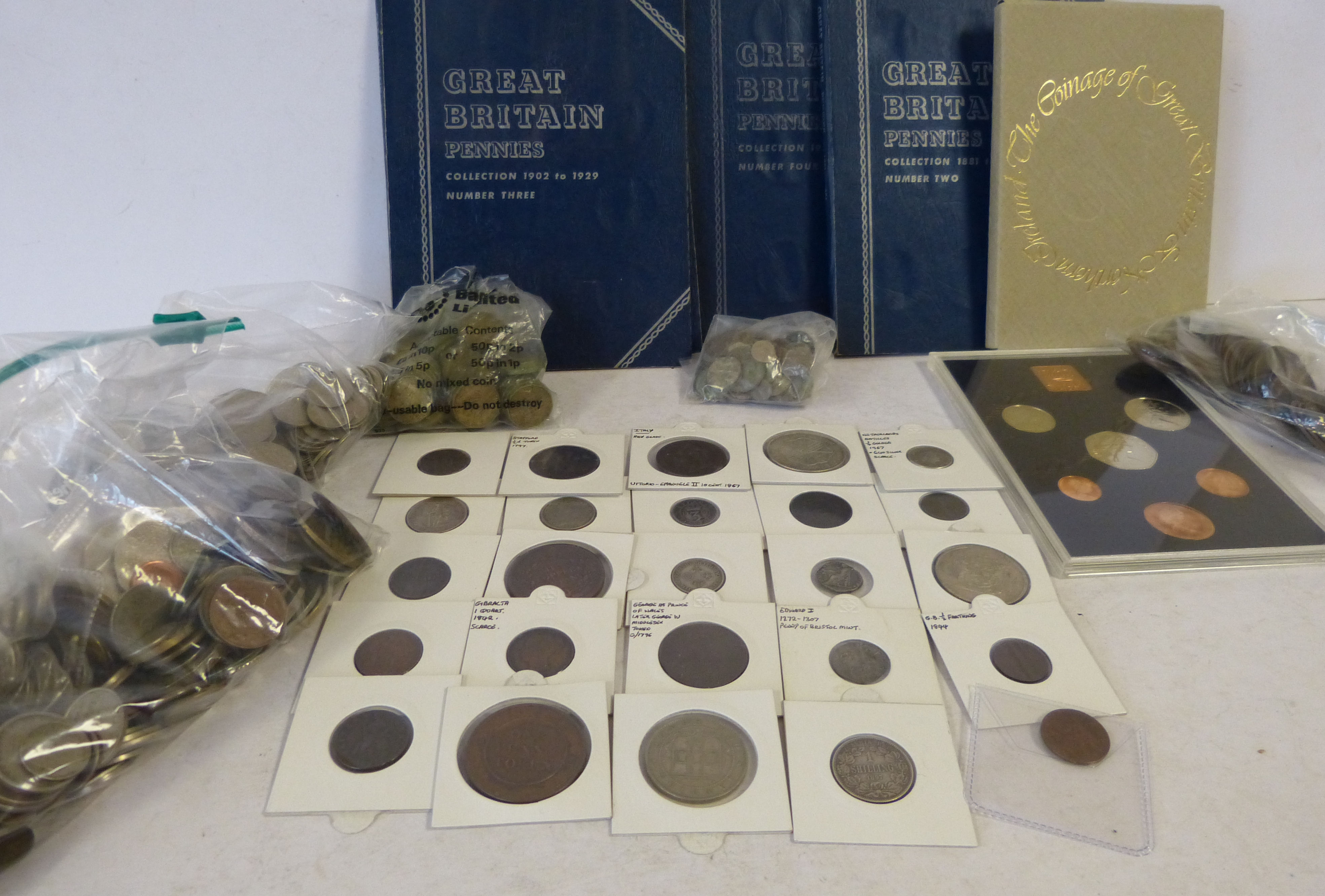 A Small Quantity of Various Odd Antique Coins, also a quantity of various other loose modern coins (some silver)