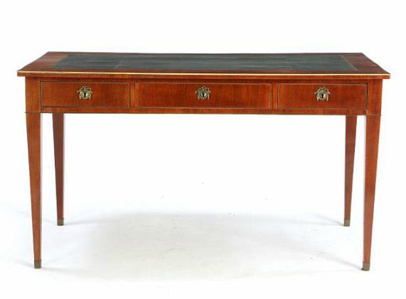 A Swedish empire mahogany desk