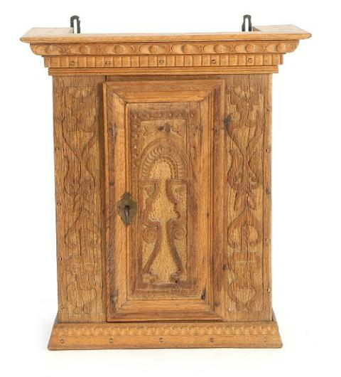 A Danish oakwood wall cupboard