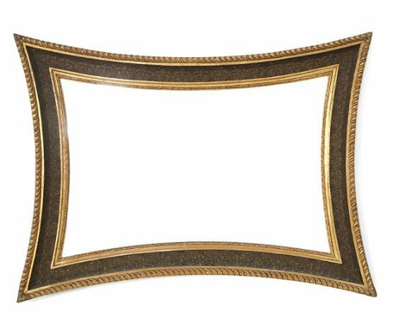 A concave giltwood empire mirror