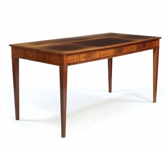 Freestanding desk of mahogany