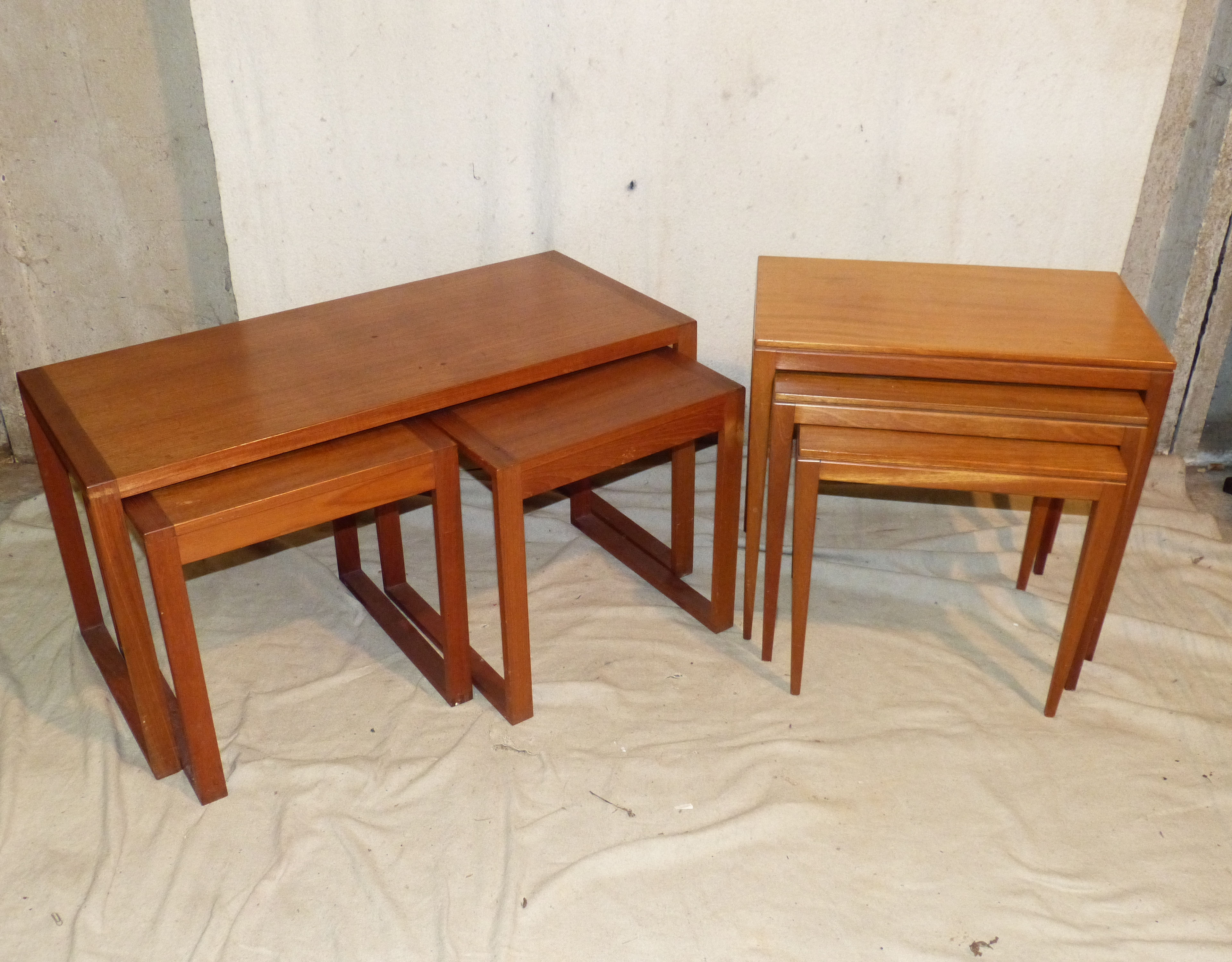 A Heals Teak Style Rectangular Coffee Table having 2 smaller inset coffee tables