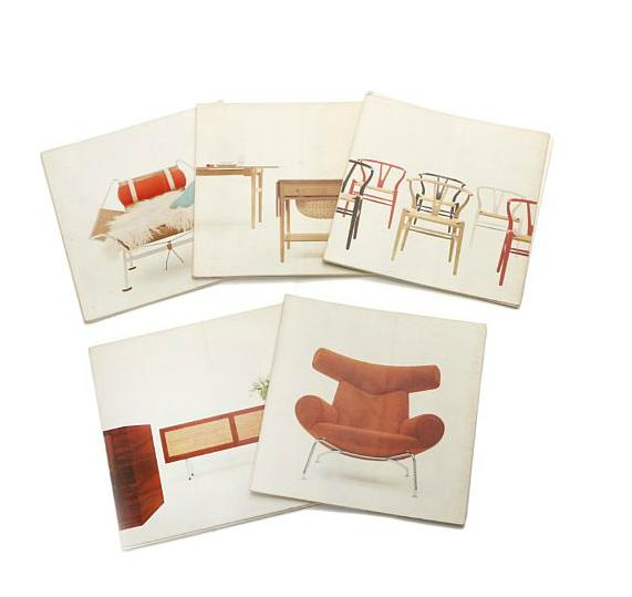 Salesco presentation material showing furniture designed by Hans J. Wegner