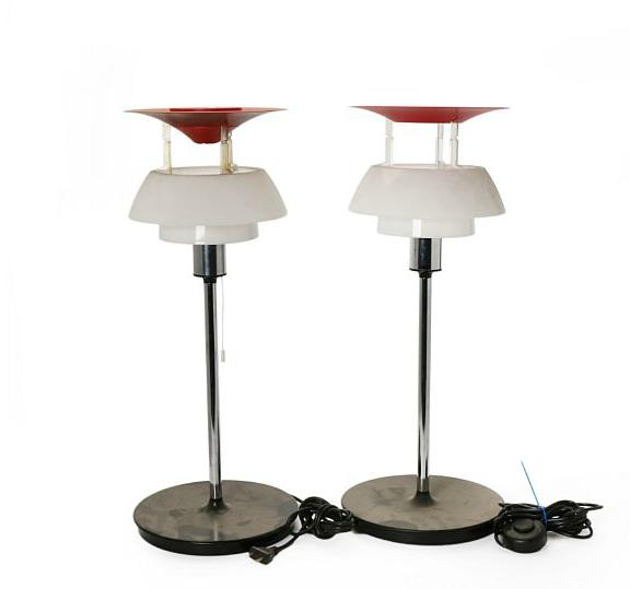 """""""PH-80"""" Spare parts for a pair of table lamps, consisting of base"""