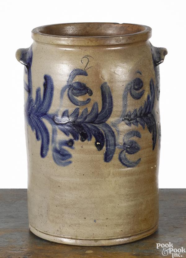 Mid-Atlantic two-gallon stoneware crock