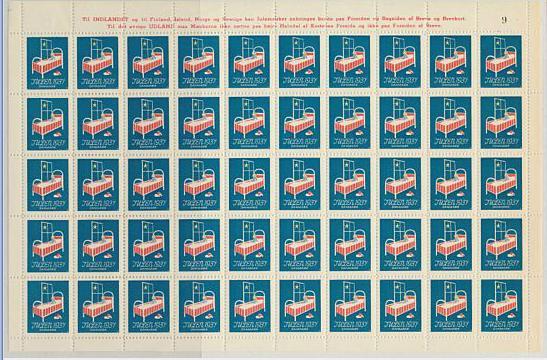 1937. Christmassheet. Fine unfolded sheet. AFA 1400