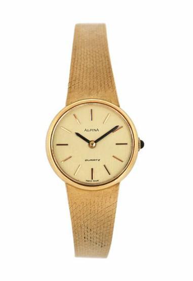A lady's wristwatch of 18k gold