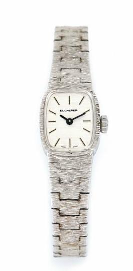 A lady's wristwatch of sterling silver