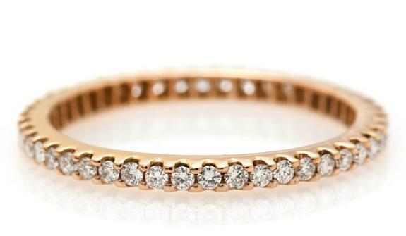 A diamond eternity ring set