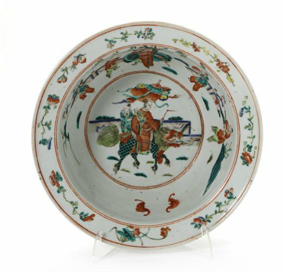 Chinese 19th century porcelain bowl decorated in colours