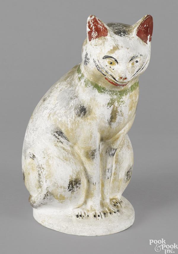 Large Pennsylvania chalkware cat