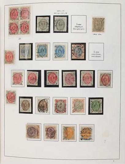 Denmark. 1851-2000. Collection in a Leuchtturm-album
