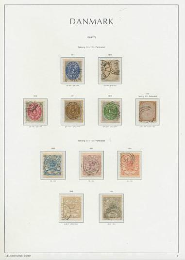 Denmark. 1851-2013. Collection in 3 Leuchtturm-albums incl. 2 RBS Thiele with crease and small tear
