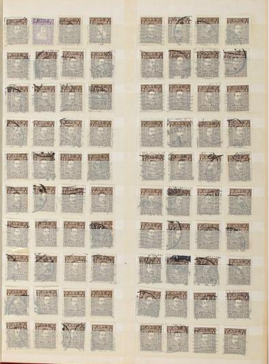 Denmark. 1924. Postal Jubilee. Album with ca. 335 copies 10 øre and 620 copies 20 øre. Total cat.v. ca. 55.000