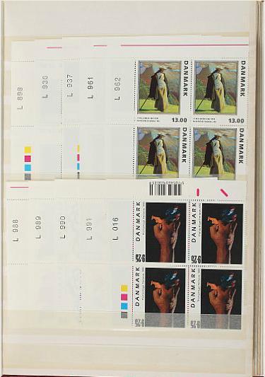Denmark. 1962-2009. Coll. NH blocks of 4. Face value ca. 13.400 DKK