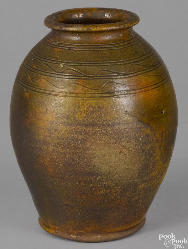 Pennsylvania redware jar