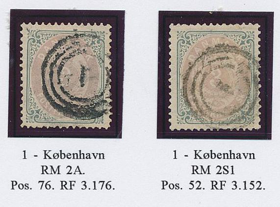 1871. 3 sk. 1-2.print. 7 fine used copies on a exhibition-page