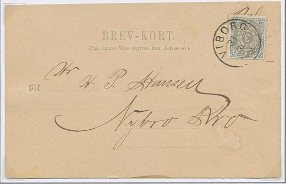 """1875. 3 Øre, 9.print. 2 pages with 5 used stamps and one cover. Incl. variety """"Missing A in Danmark"""""""