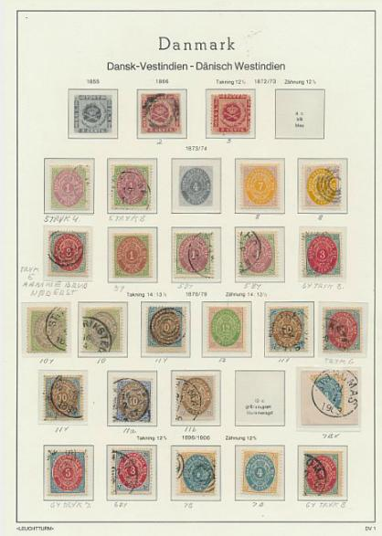 DWI. 1866-1917. Collection on 5 albumpages. AFA ca. 17500. Please see scan's of all pages