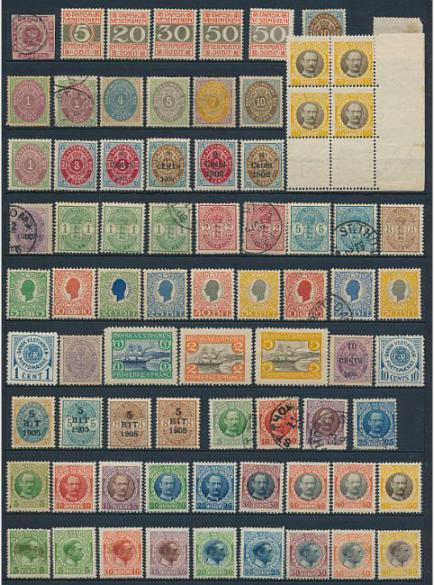 Danish Westindies. Page including better stamps.