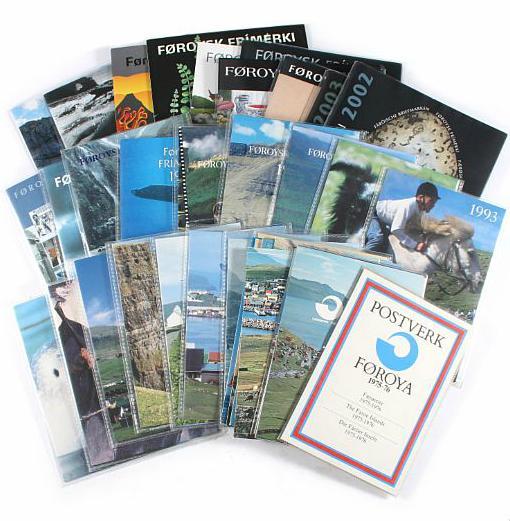 Faroes. Complete set year-folders 1975-2011